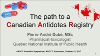 AAPCC Scientific Symposium:The Path to a Canadian Antidotes Registry