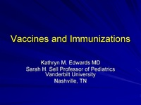 Plenary Session 2: Drug Toxicity: Mechanisms & Clinical Effects<br /><br />Vaccines & Immunizations