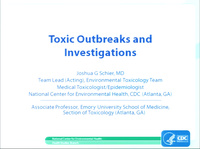 ACMT Pre-Meeting Symposium: Inside the Beltway and Beyond: The Intersection of Medical Toxicology and the Federal Government<br /><br />Toxic Outbreaks and Investigations: It's Not All Infectious Diseases Anymore…..