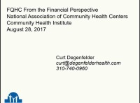 FQHC from the Financial Perspective