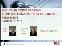 The Health Center Program Compliance Manual from a Financial Perspective