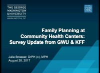 Health Centers and Family Planning:  Now and in the Next Five Years