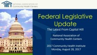 Federal Legislative Update: The Latest from Capitol Hill