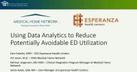 Using Data Analytics to Reduce Potentially Avoidable Emergency Department Utilization