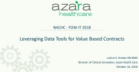 Leveraging Data Tools for Value-Based Contracts