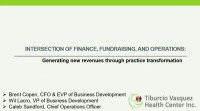 The Intersection of Finance, Fundraising, and Operations: Generating New Revenues Through Practice Transformation