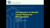 Introduction to Health Center Financial Management