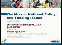 Workforce: National Policy and Funding Issues