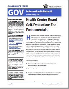 Health Center Board Self-Evaluation: GOV Information Bulletin