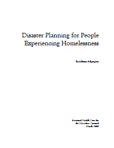 Disaster Planning for Homeless Populations