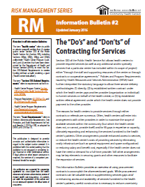RM Information Bulletin: The Do's and Don'ts of Contracting Services