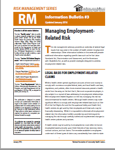 RM Information Bulletin: Managing Employment-Related Risk