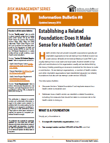 RM Information Bulletin: Establishing a Related Foundation