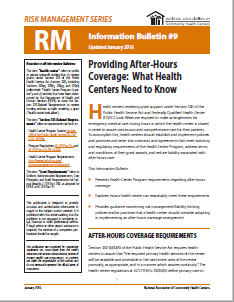 RM Information Bulletin: After Hours Coverage