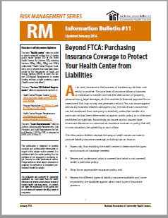 RM Information Bulletin:  Beyond FTCA, Purchasing Insurance Coverage