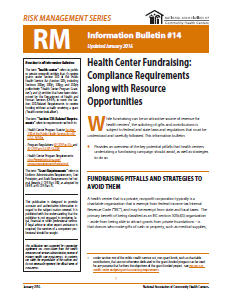 RM Information Bulletin: Health Center Fundraising