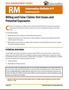 RM Information Bulletin: Billing and False Claims