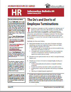 HR Information Bulletin: The Do's and Don'ts of Employee Termination
