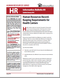 HR Information Bulletin: HR Record Keeping Requirements