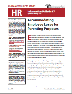 HR Information Bulletin: Accommodating Parental Leave