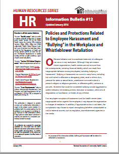 HR Information Bulletin: Policies and Protections Related to Employee Harassment