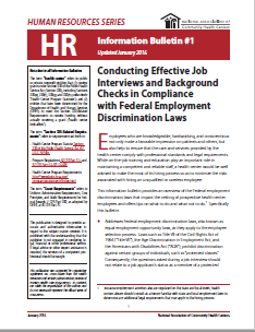 HR Information Bulletin: Conducting Effective Job Interviews