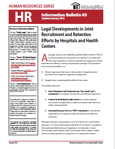 HR Information Bulletin: Legal Developments in Joint Recruitment and Retention Efforts