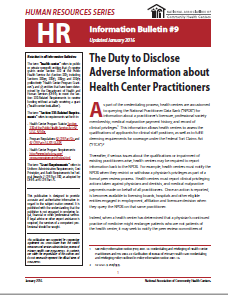 HR Information Bulletin: The Duty to Disclose Adverse Information