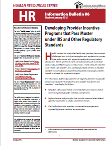 HR Information Bulletin: Developing Provider Incentive Programs