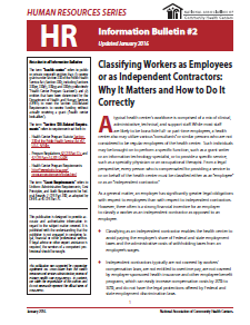 HR Information Bulletin: Classifying Workers