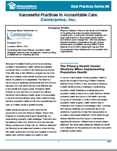 Successful Practices in Accountable Care: Centerprise, Inc.