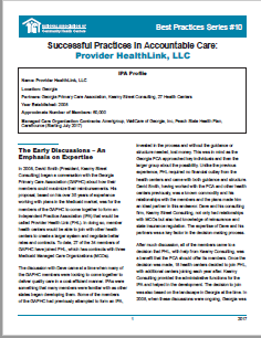 Successful Practices in Accountable Care: Provider Health Link, LLC