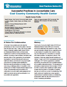 Successful Practices in Accountable Care: Coal Country Community Health Center