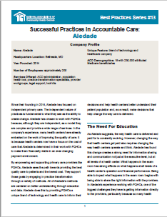 Successful Practices in Accountable Care: Aledade
