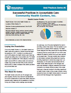 Successful Practices in Accountable Care: Community Health Centers, Inc.
