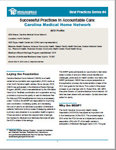 Successful Practices in Accountable Care: Carolina Medical Home Network