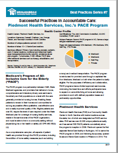 Successful Practices in Accountable Care: Piedmont Health
