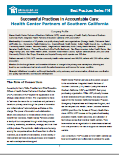 Successful Practices in Accountable Care: Health Center Partners of Southern California