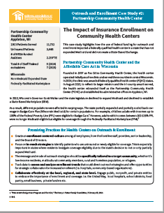 Outreach and Enrollment Case Study #2: The Impact of Insurance Enrollment on Community Health Centers