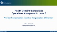 Provider Compensation and Incentive Programs