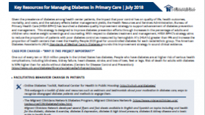 Key Resources for Managing Diabetes in Primary Care