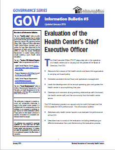 Evaluation of the Health Center's Chief Executive Officer GOV Information Bulletin