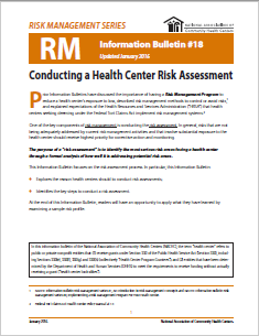 RM Information Bulletin: Conducting a Risk Assessment