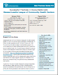 Accountable Care Best Practices:  Massachusetts League of Community Health Centers