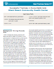 Accountable Care Best Practices:  Miami Beach Health Center