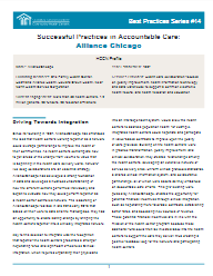 Accountable Care Best Practices:  Alliance Chicago