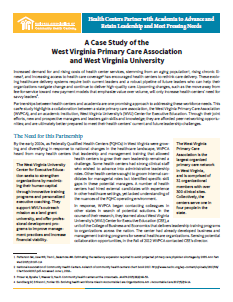 A Case Study of the West Virginia Primary Care Association and West Virginia University