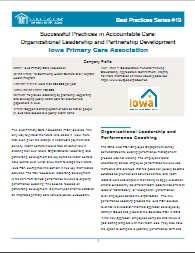 Successful Practices in Accountable Care: Organizational Leadership and Partnership Development