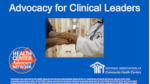Advocacy for Clinical Leaders (Elearning)