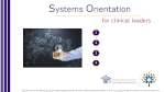 Systems Orientation for Clinical Leaders (eLearning)